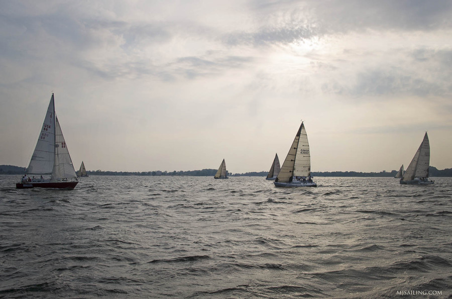 racing on Muskegon Lake