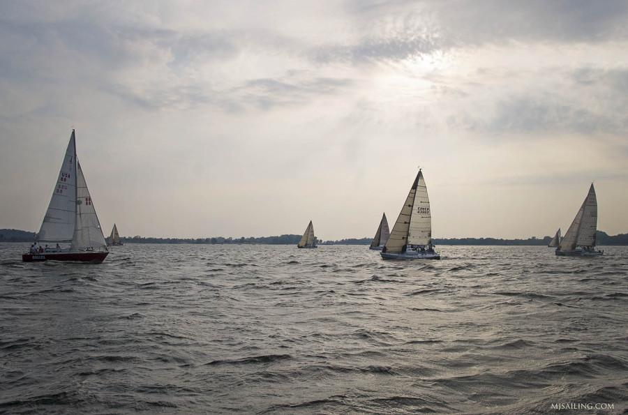racing on Muskegon Lake