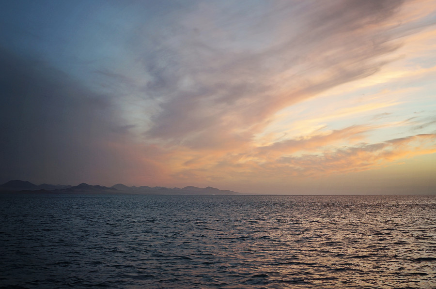 sunset over Lanzarote