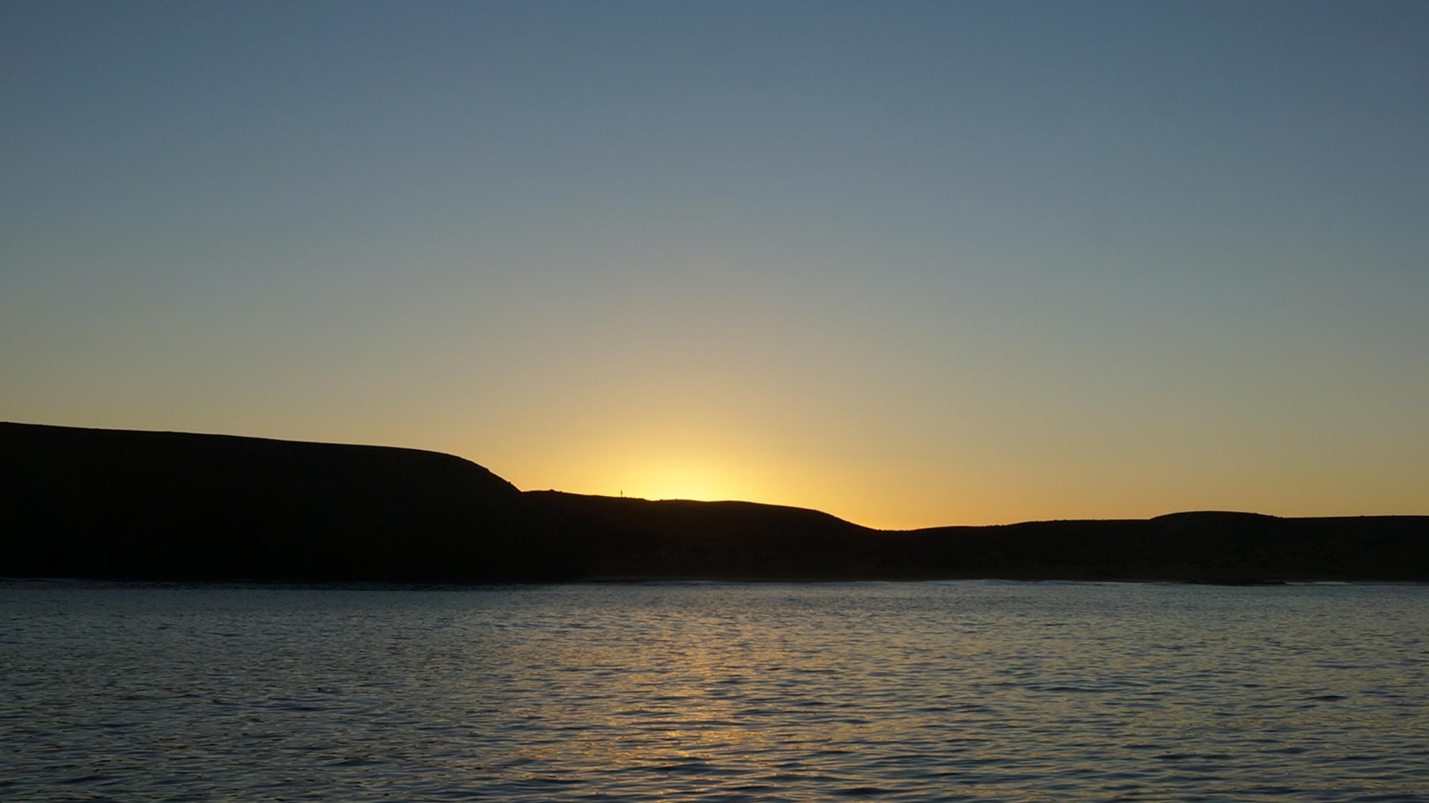 sunrise at Playa Papagayo, Lanzarote