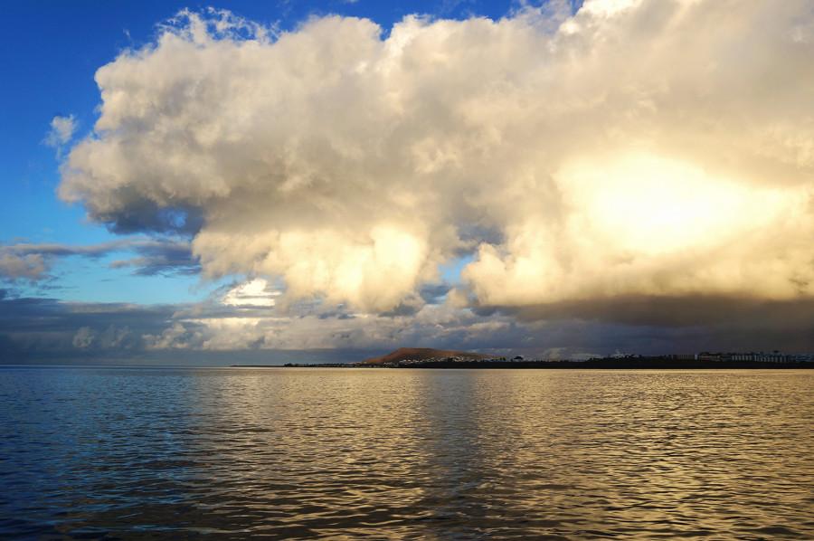 storm clouds over Playa Blanca, Lanzarote