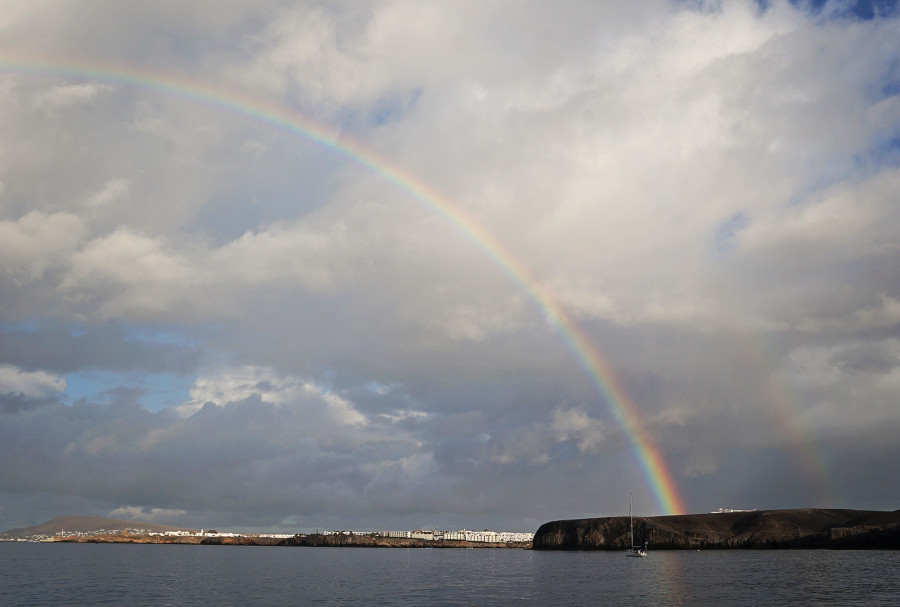 rainbow over Playa Blanca, Lanzarote