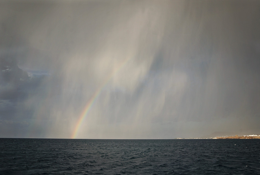 rainbow in a sandstorm