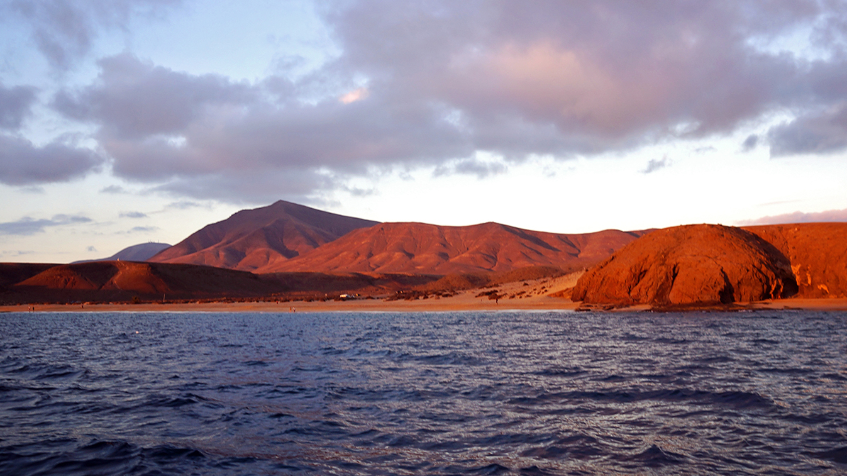 sunset over Playa Papagayo, Lanzarote, Canary Islands
