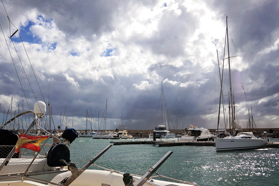 storm over Marina Rubicon