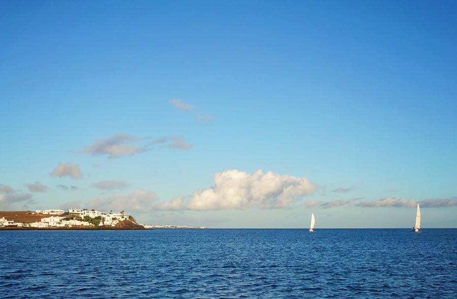 sailboats at Lanzarote