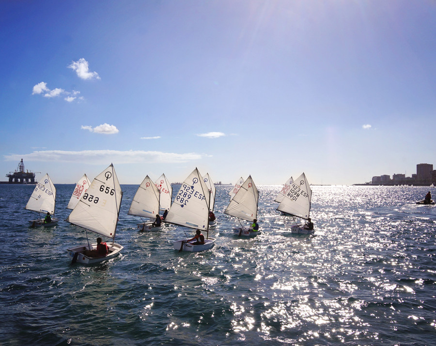 sailing dinghies in Las Palmas harbor