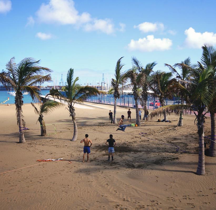 slacklining Las Palmas