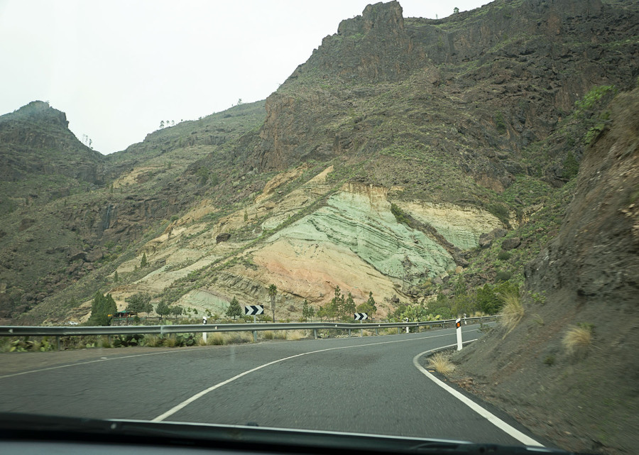 colored rocks, Gran Canaria