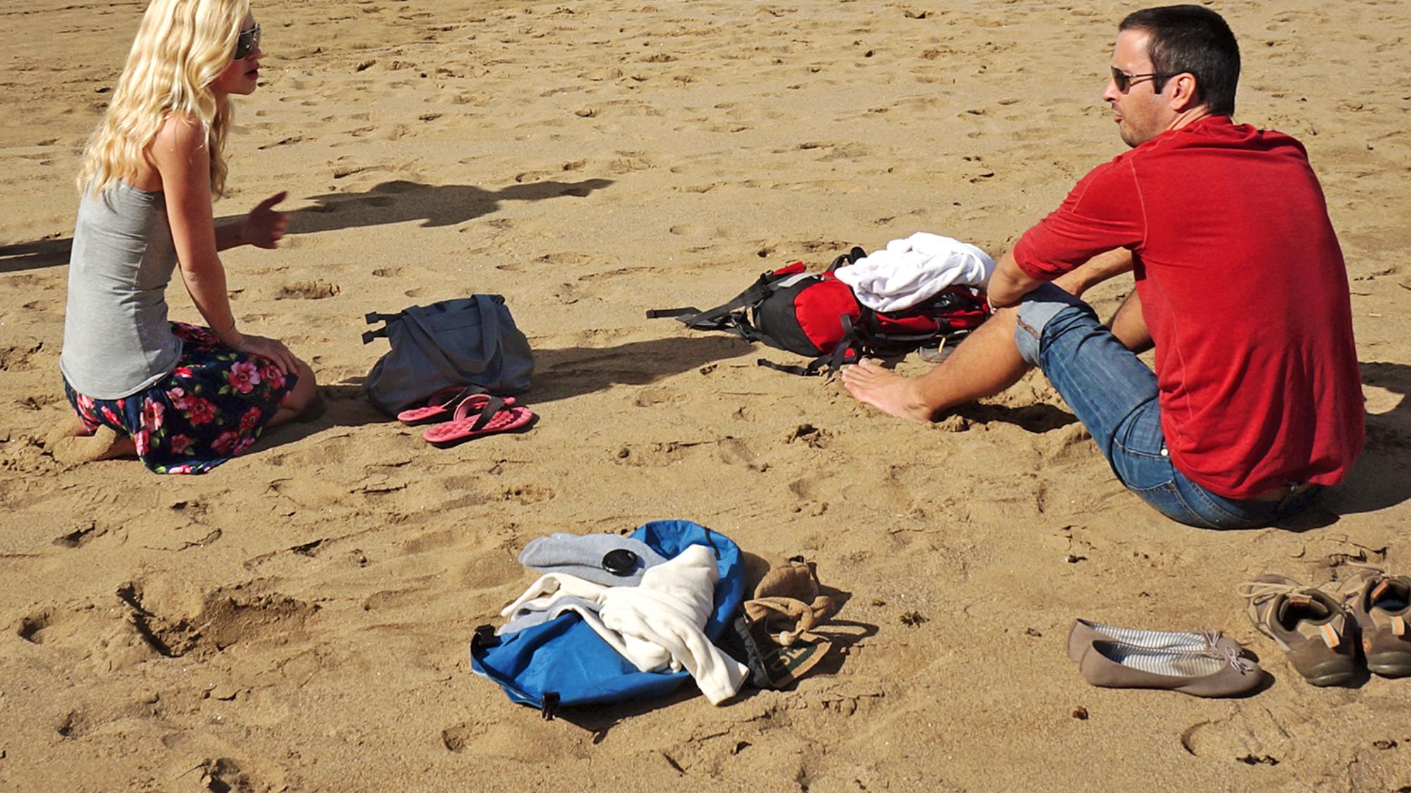 Kit & Matt at Playa Canteras