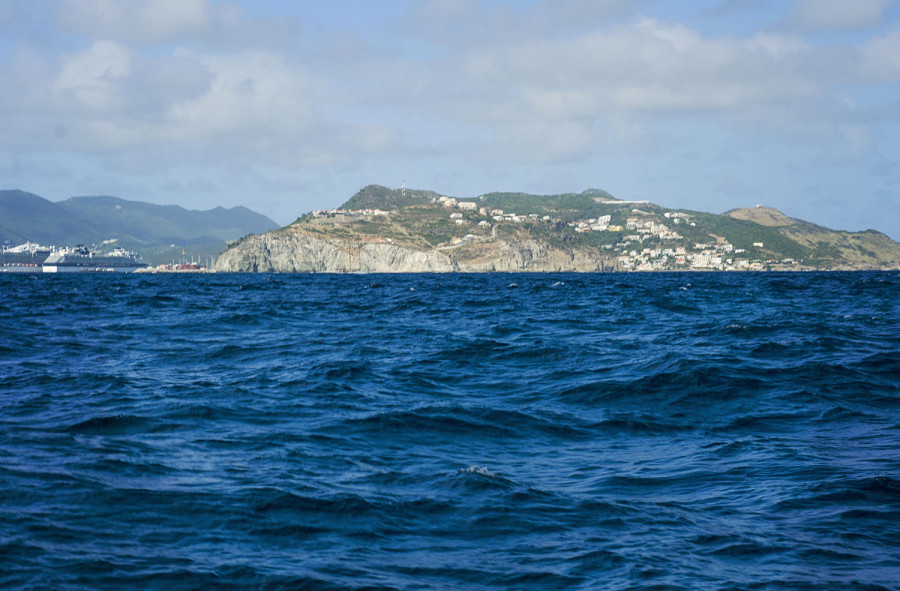 Sint Maarten from the sea