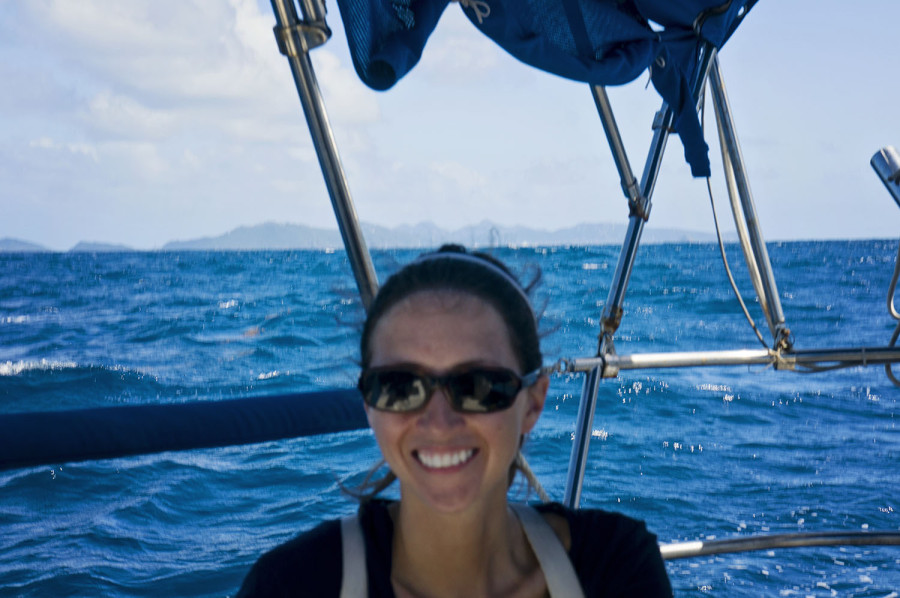 Jessica sailing