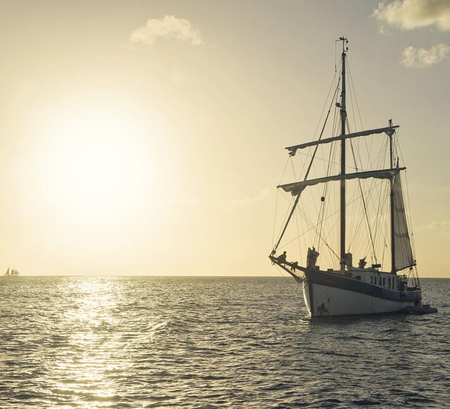 sunset in Sint Maarten