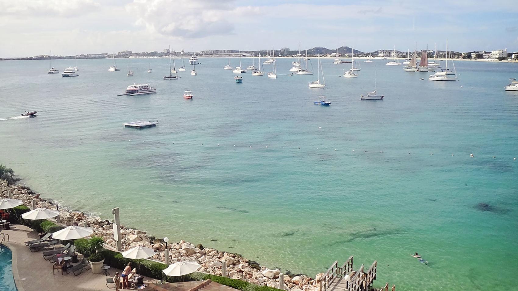 resort overlooking Simpson Bay