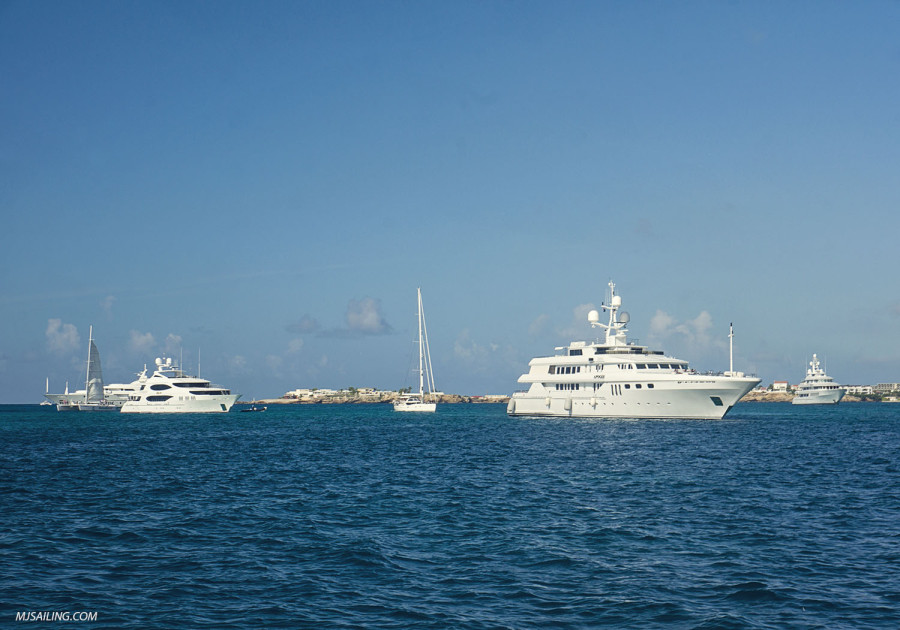 Yachts lining up