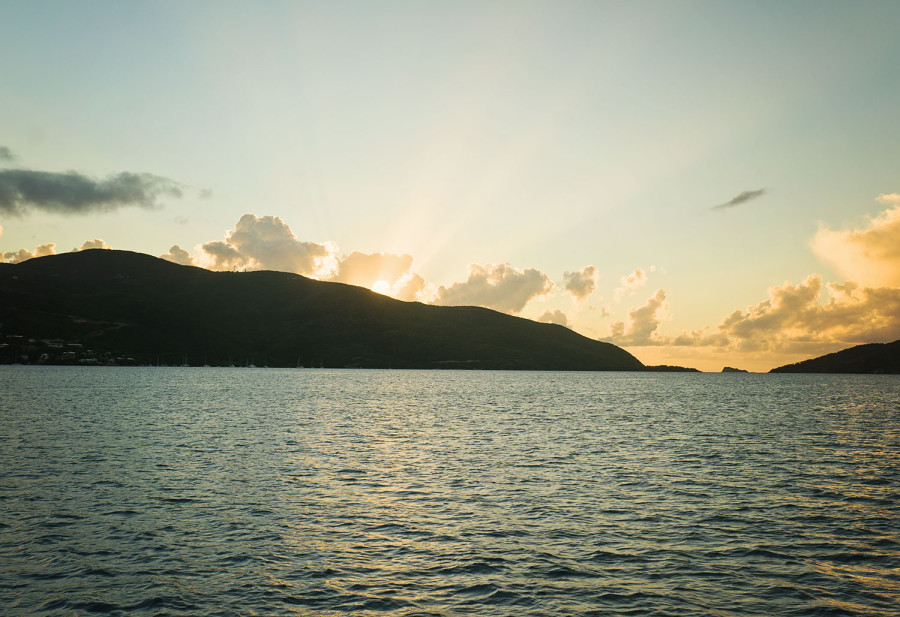 sunset in Virgin Gorda Sound
