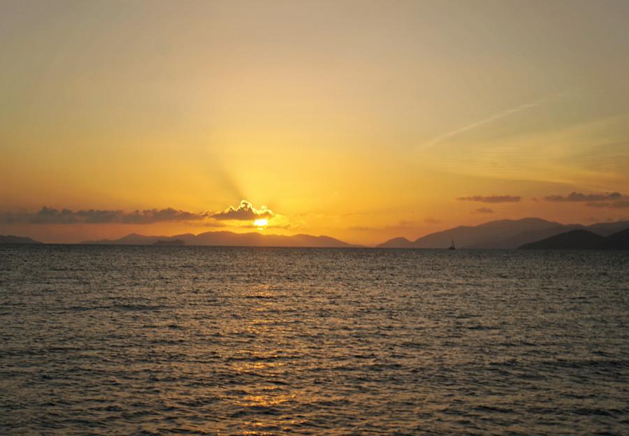 sunset over Tortola, BVI