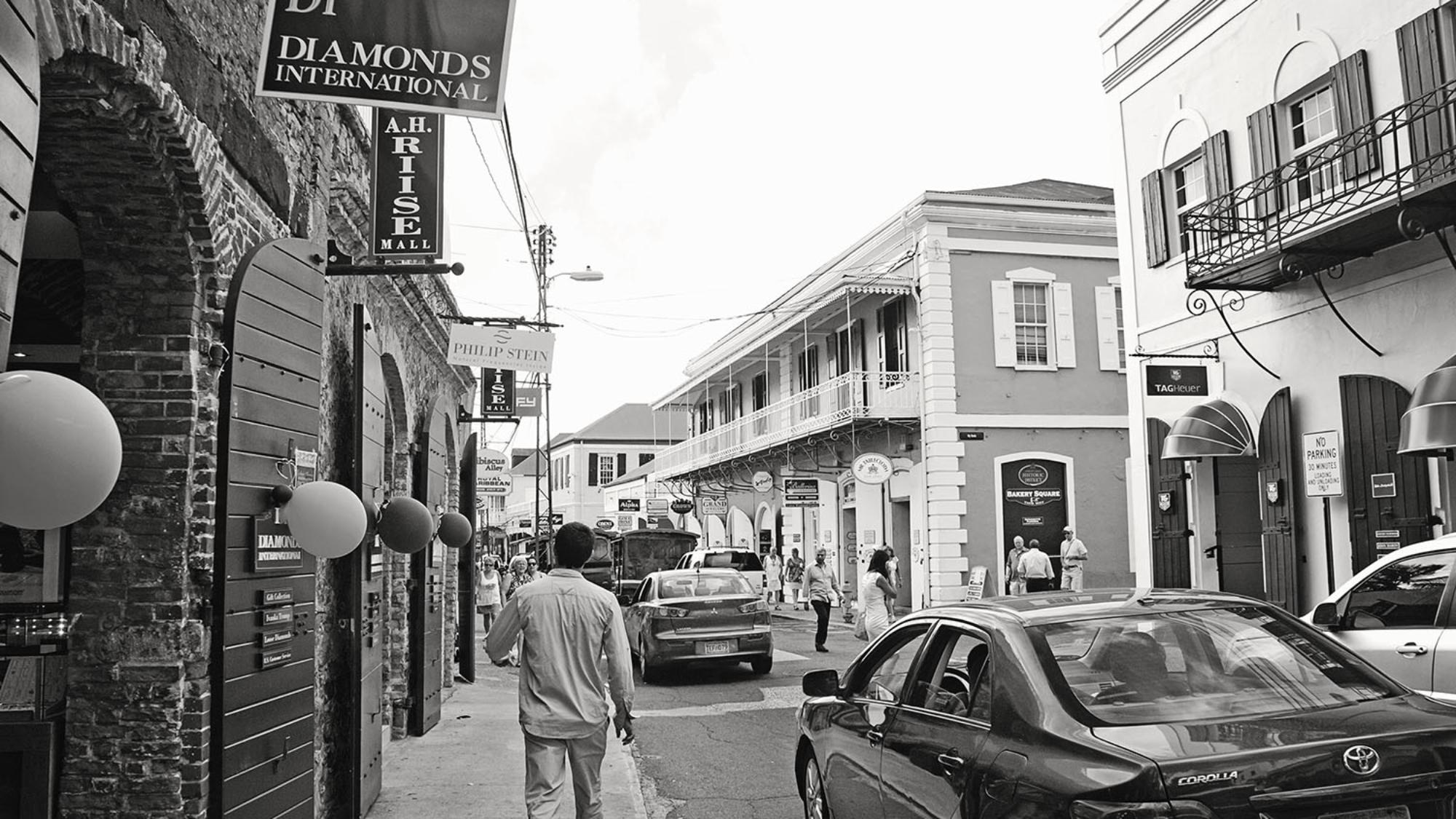 shopping district, Charlotte Amalie