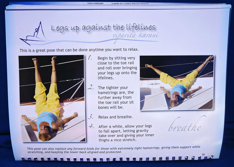 yoga onboard legs on lifelines
