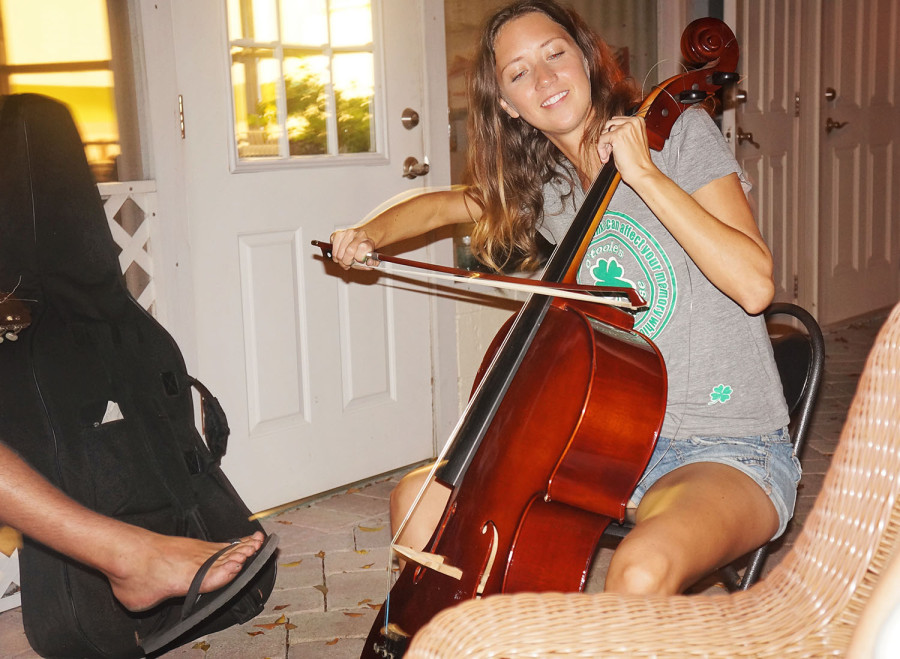 Jessica playing cello