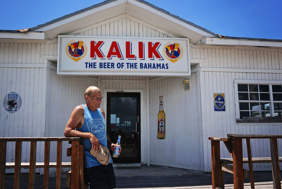 Bob enjoying a Kalik