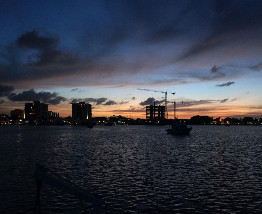 sunset on Lake Worth