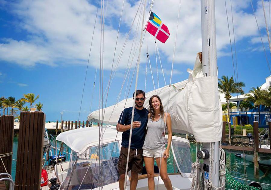 Matt & Jessica, checked into Bahamas