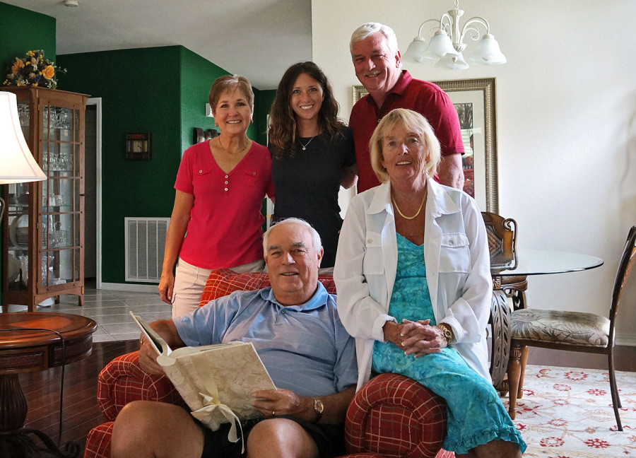 Jessica with parents and grandparents