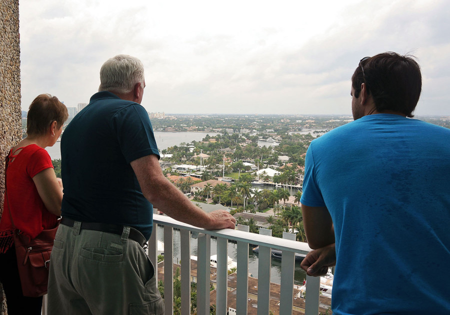 parents overlooking Ft. Lauderdale