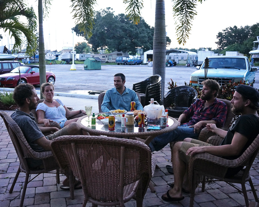 patio at Indiantown Marina