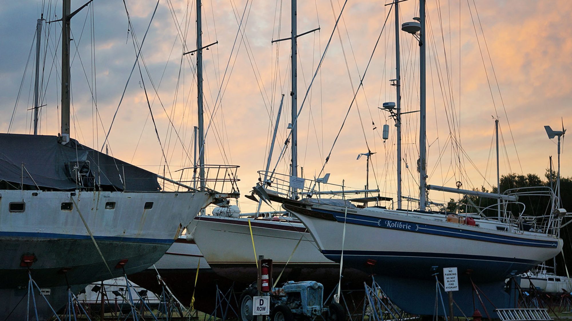 contemplations in the boat yard