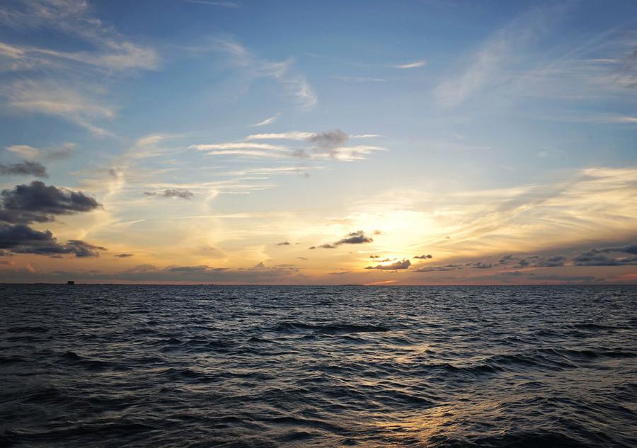sunset on Lake Okeechobee