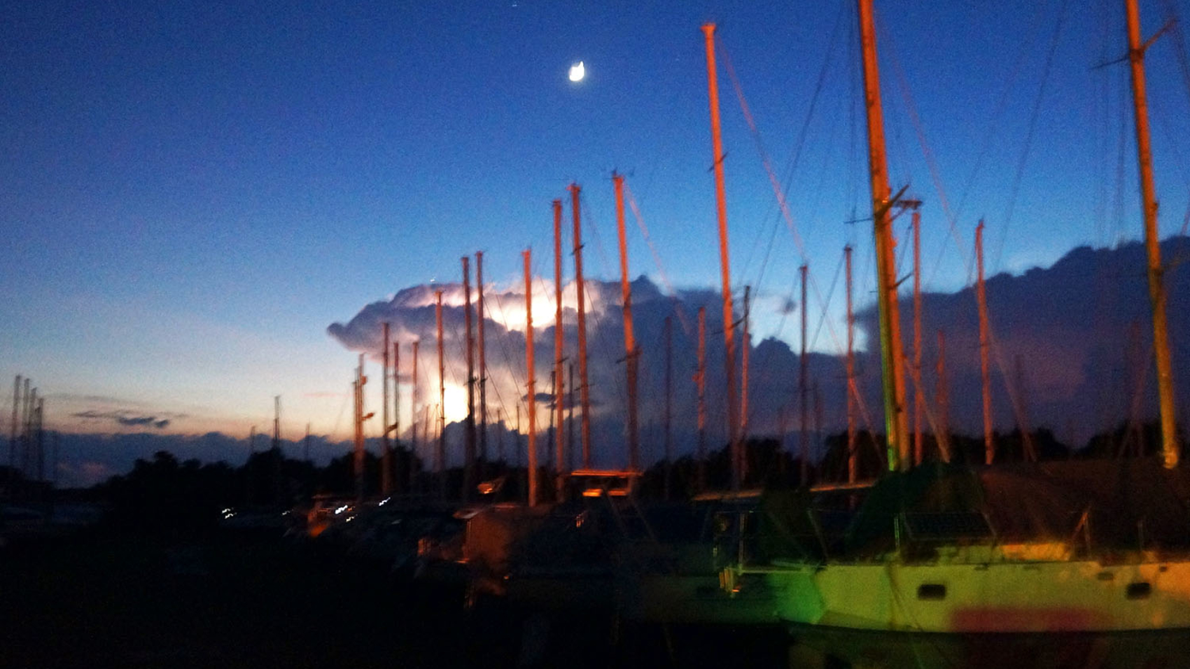 thunderstorms over the boat yard