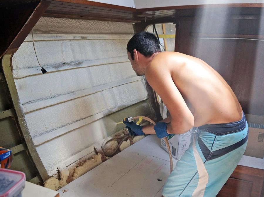 spray foam insulation to forward salon