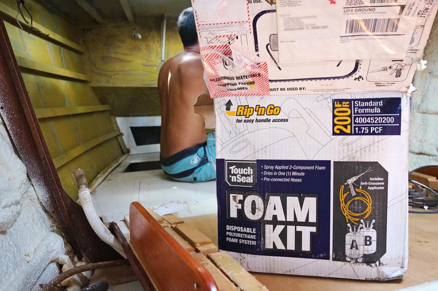 spray foam insulation kit