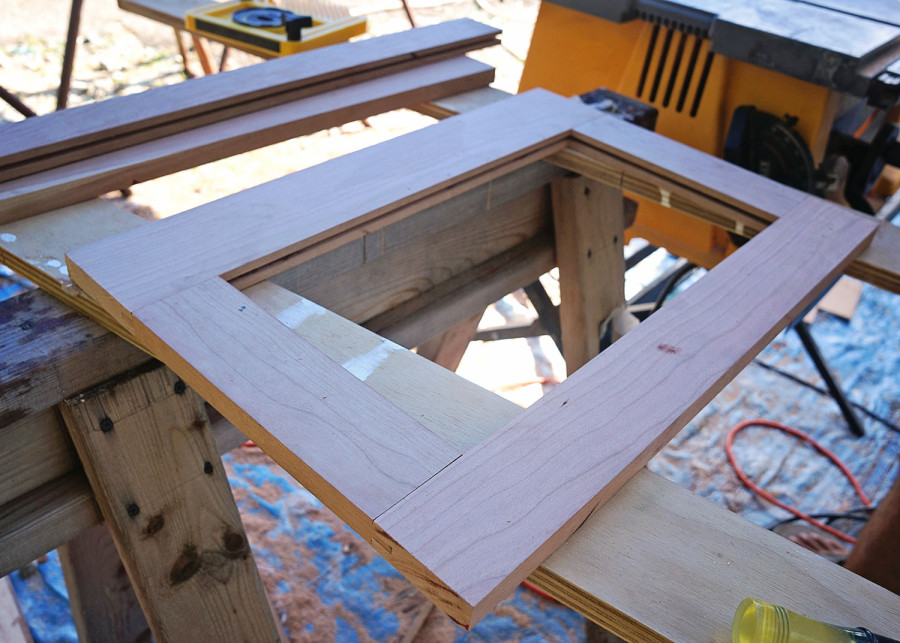 tongue & groove cabinet frame