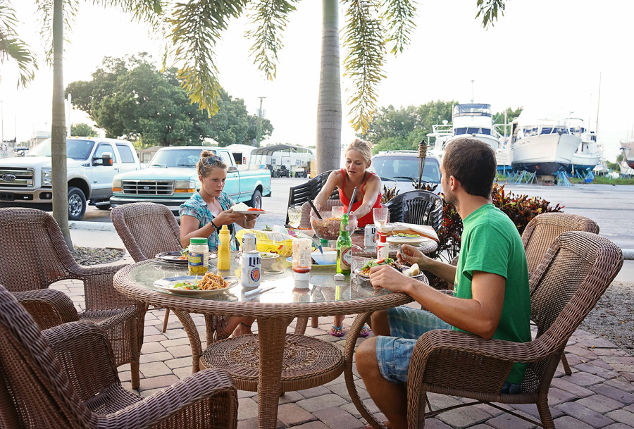 cookout at Indiantown Marina