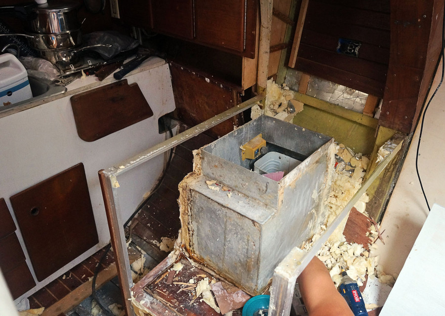 ripping apart galley