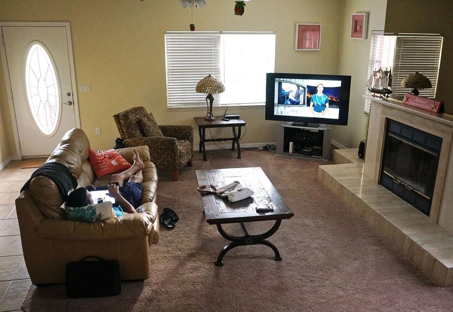 Matt watching tv