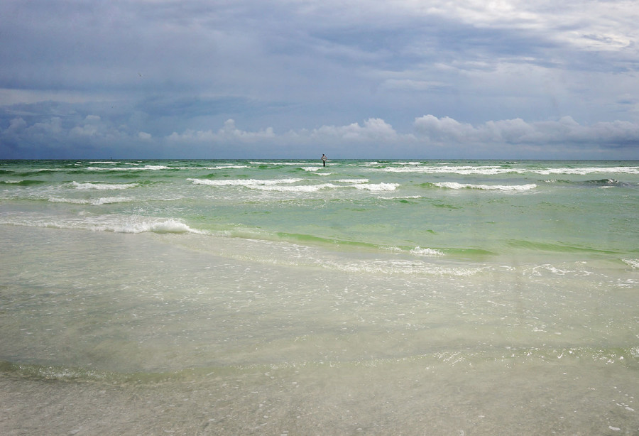 big waves on Siesta Beach