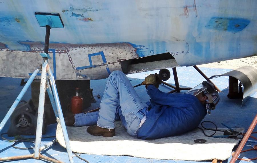 open keel during welding