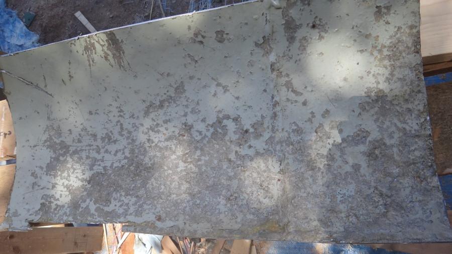 old aluminum panel