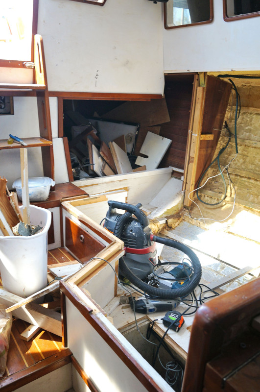 demolition of pilot house