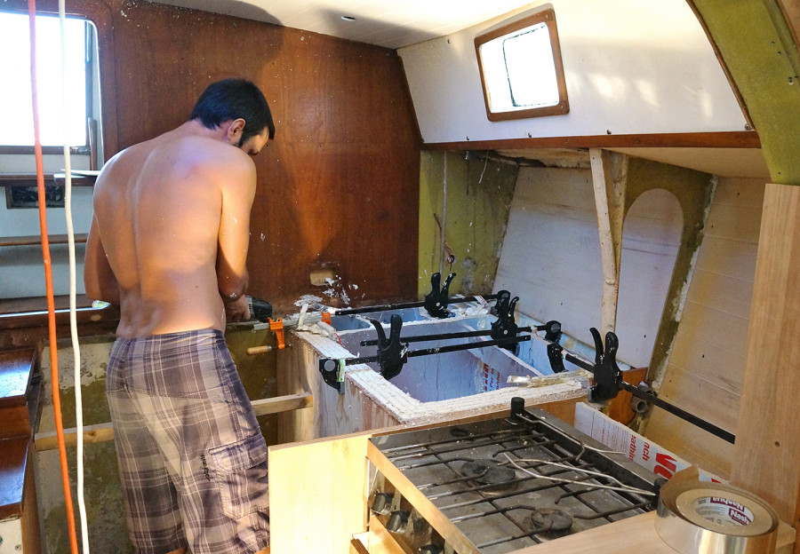 clamping sheet insulation for fridge box