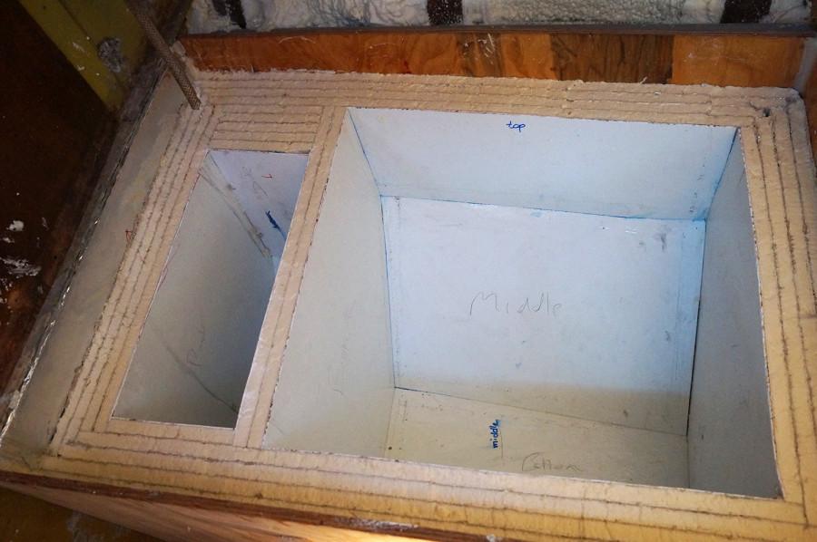 inside of our fridge box