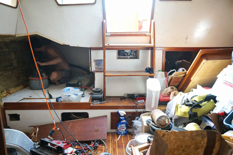 pulling apart pilot house