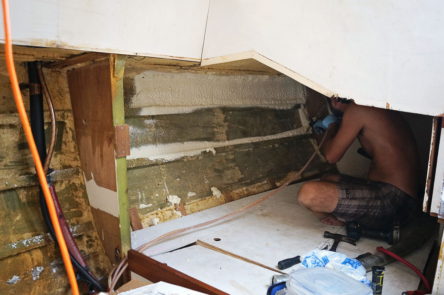 Matt insulating hull