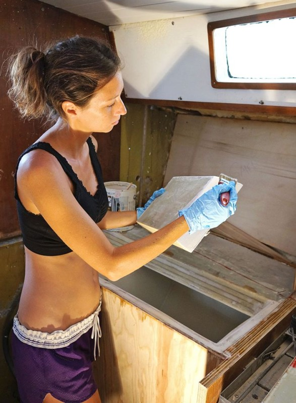 painting fridge lid