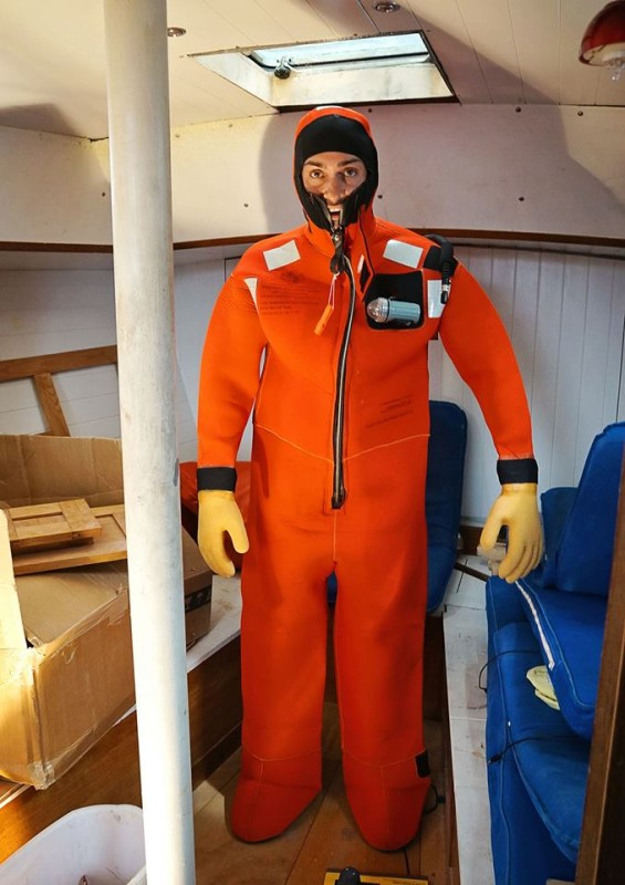 Matt in survival suit
