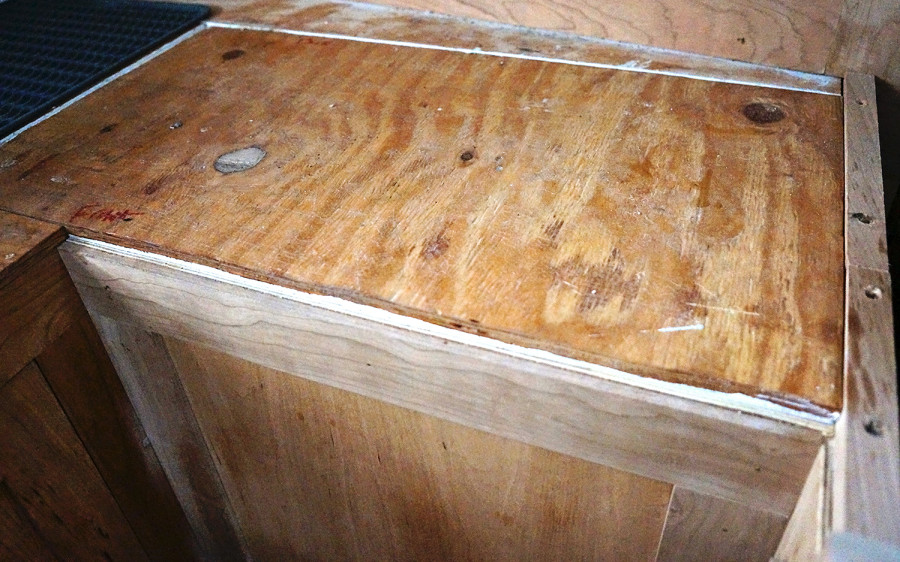 plywood cover for fridge